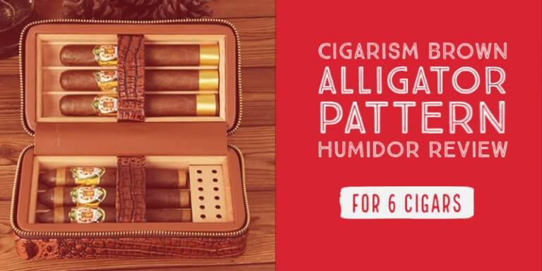 CIGARISM Brown Alligator Pattern Humidor Review