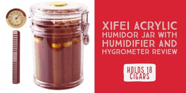 XIFEI Acrylic Humidor Jar with Humidifier and Hygrometer Review